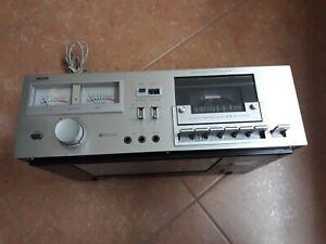 PHILIPS N5151 Vintage Stereo CASSETTE DECK Piastra NON FUNZIONANTE PER RICAMBI