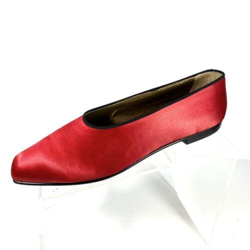 Vintage Yves Saint Laurent Women Flat Shoes Red Sa
