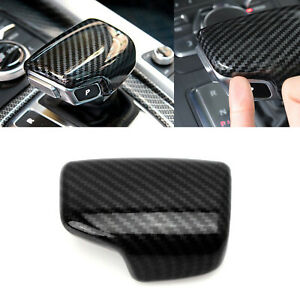 100/% Carbon Fiber Center Gear Shift Button Frame Cover Trim For Audi A5 A4 Q5