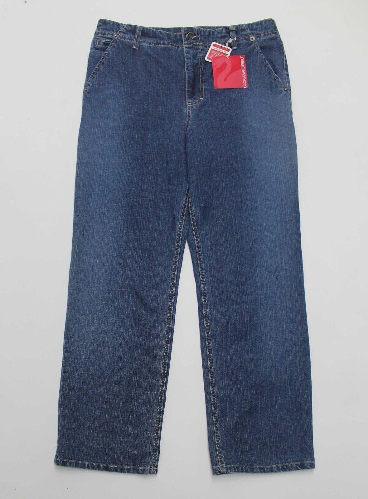 Jeans 14P Stretch Gloria Vanderbilt 14 Petite NEW bluee Indigo NWT K2783X