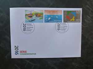 2016-LUXEMBOURG-COMMEMORATIONS-SET-OF-3-STAMPS-FDC-FIRST-DAY-COVER