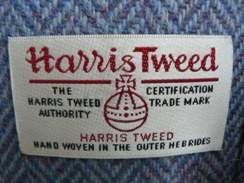 Handmade Harris Tweed Drum Lampshade in Blue Herringbone *