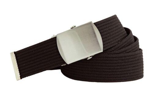 Shenky NERO 4cm militare cintura con elegante di bloccaggio cinturone fibbia 170cm lunghezza