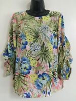 NEW Ex DP: Multi Floral Print  Summer Day Casual Work Blouse Top Size 10-22