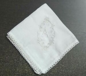 5435819d4153 Image is loading White-Handkerchief-Soft-Cotton-Hanky-Gift-for-Women-