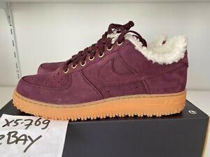 Marcha atrás Impulso Panadería  Nike Air Force 1 Premium Winter Burgundy Gum AV2874-600 DS 11 11.5 12 AF1  Low 45 | eBay