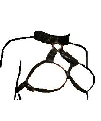 New Bondage Fetish Neck to Breast Restraint Harness. Free Postage 316a