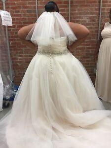 Details about Plus Size Wedding Dress, Size 26,