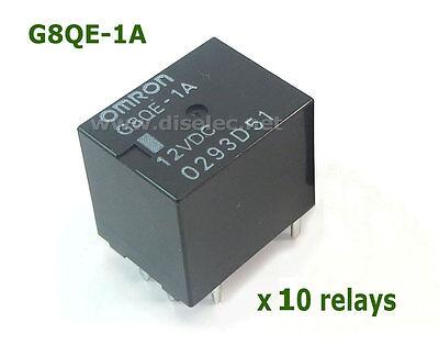 Lote de 10 RELÉS G8QE-1A DC12 G8QE1A DC12 OMRON AUTOMOTIVE RELAY