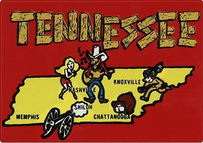 1 #669 Vintage Tennessee Nashville Luggage Label Travel Decal Sticker Repro