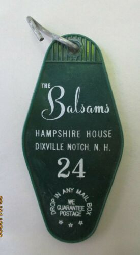 "VINTAGE BALSAMS GRAND RESORT HOTEL ROOM KEY TAG FOB /"" HAMPSHIRE HOUSE /"""