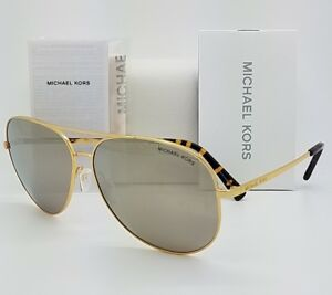 New-Michael-Kors-sunglasses-MK5016-10245A-60-Gold-Silver-Aviator-5016-Kendall-I