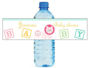 Details About 100 Mom Baby Lion Baby Shower Birthday Water Bottle Labels Self Stick