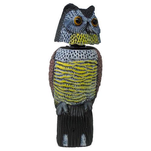 Buho espantapajaros con cabeza giratoria y ojos reflectantes Ahuyentador de aves