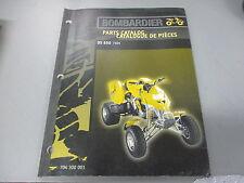 Bombardier OEM Parts Catalogue Manual DS 650 7404 #704300001
