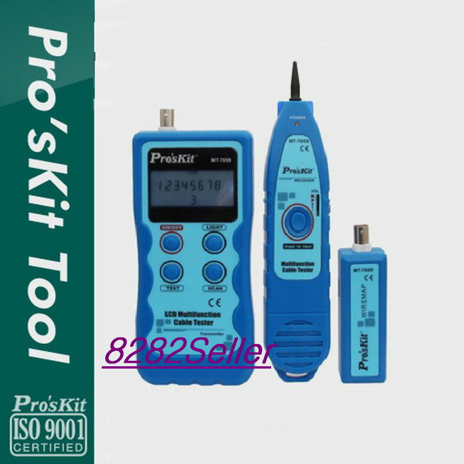 ProsKit (MT-7059) LCD display Multifunction Cable Tester Wire tracing LAN cable
