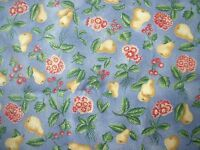 Western Textile Westgard Home Decor Pears Cherries Floral Design Cotton Fabric