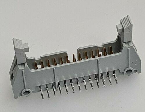 26 Pin en ángulo recto trabado encabezado conector IDC paso DC2-26P 2.54mm