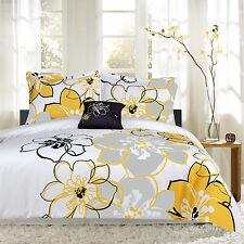 Floral Reversible Down Alternative 4 Piece Comforter Set Full/Queen