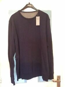 Mens-XXXL-Navy-Sweatshirt-New-Marks-and-Spencer