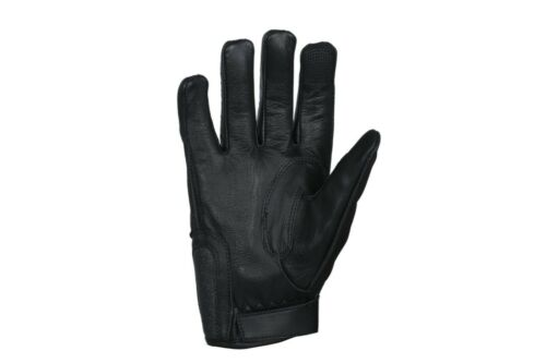 Motorbike Motor Cycle Black Genuine Leather Gloves All Weather Men Bike By TMS