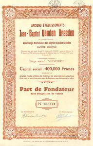 Anciens-Etablissements-Jean-Bapist-Vanden-Breeden-fundador-1937-Emision-200