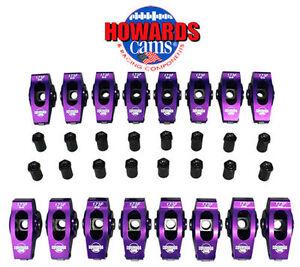 Howard-039-s-429-460-Ford-Billet-Aluminum-Roller-Rocker-Arms-1-73-Ratio-7-16-034-Stud