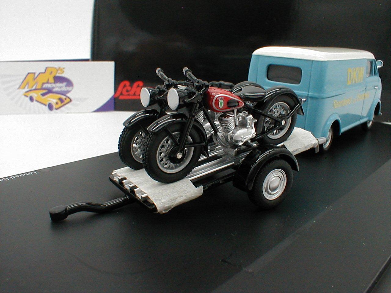 Schuco Schuco Schuco 02388 - DKW Schnelllaster m. Hänger + 2x Motorrad   DKW Renndienst   1 43 fb20a9