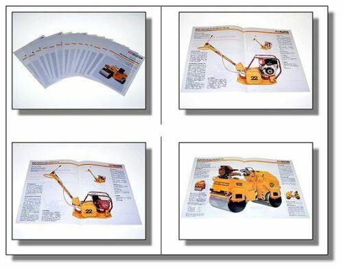 Prospekte 14 Case Vibromax Walzen Vibrationsplatten ..