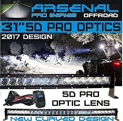 "No.1 31""  5D Pro Optic Single Row Curved CREE LED Light Bar 150w 18,000LM"