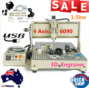 USB-1500w-4AXIS-6090-Router-3D-Engraver-metal-PCB-Mill-drilling-Carving-Machine