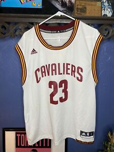Cleveland Cavaliers Lebron James Jersey Adidas Mens Large White ...