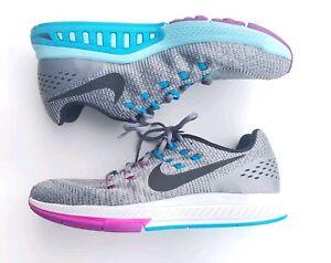 aa4df34ee77f Nike Women s 11.5 Air Zoom Structure 19 Cool Grey Black Fuchsia ...