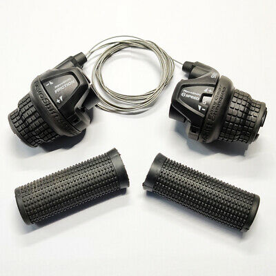 UK pair MTB Road Bicycle Twist Gear Shifter 18//21//3x6//3x7 Speed+grips for free