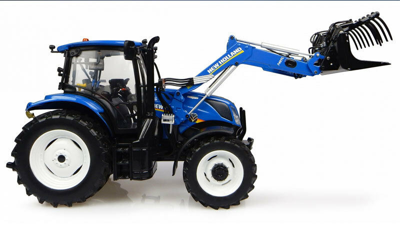 UNIVERSAL HOBBIES 1 32 TRATTORE nouveau HOLLAND T6.145  WITH 740TL LOADER  ART  4956  meilleure offre