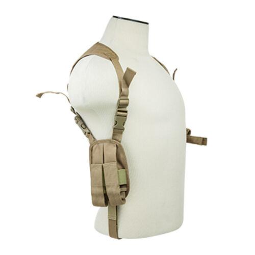 VISM Tan Shoulder Holster w/ Mag Pouches Fits GLOCK 17 19 19X 20 21 22 Pistols