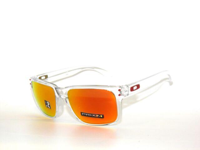 uusin muotoilu mahtavat hinnat myyntipiste verkossa Oakley Holbrook 9102-h4 Polished Clear Prizm Ruby Sunglasses Clearance