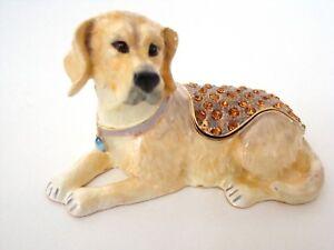 Jeweled-Trinket-Enamel-Hinged-Box-Yellow-Labrador-Retriever-Dog-with-necklace