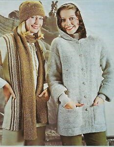 """Baby Jacket with Hood and Pockets Knitting Pattern in DK 16-22/"""" 931"""