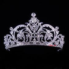 6.5cm hoch Blume Blatt Hochzeit Braut Haarschmuck Haarreif Krone Diademe Tiara