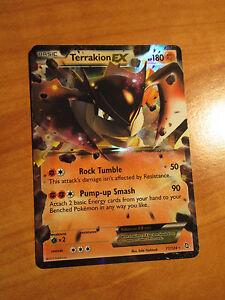 Ex Pokemon Terrakion Ex Card Dragons Exalted Set 71124 Black And