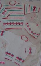 BABY~JACKETS~CARDIGANS~SWEATER~BERET~KNITTING PATTERN SIZE 0-3YEARS   (43G)