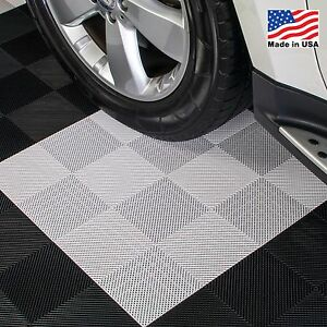 Garage Tiles | Drain Tiles White - Made In the USA