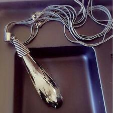 Fashion Jewelry Chain Pendant Long Crystal Choker Chunky Statement Bib Necklace