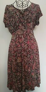 FAT-FACE-ditsy-Dress-Size-14-Holiday-Summer-Casual-Paisley-Print