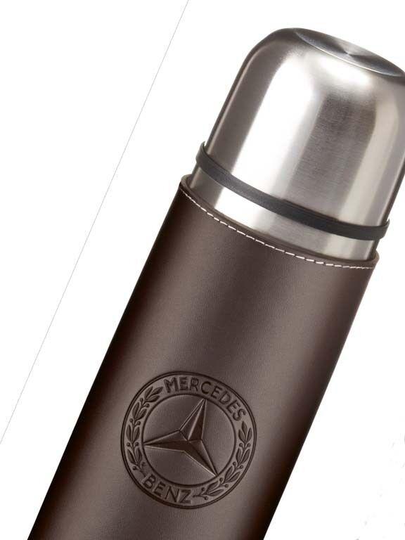 Classic Edelstahl bottle orig Mercedes Benz Thermos Thermos Thermos Kanne Isolier Flasche braun  | Erlesene Materialien  0f9347