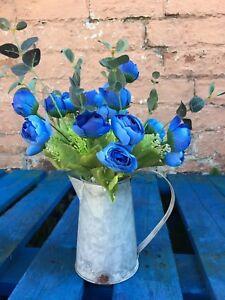 30-Heads-Silk-Blue-Rose-Bud-Artificial-Fake-Flowers-Ornament-Home-Decor