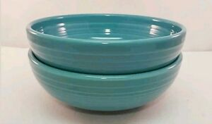 Fiestaware Turquoise Medium Bistro Bowl Lot of 2 Fiesta Blue 38 ounce Bowl