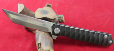 New TwoSun TC4 Titanium Ball Bearings D2 Fast Open Pocket Folding Knife TS20-D2