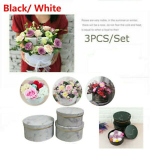 Florist-Hat-Boxes-set-of-3-Christmas-Flowers-Gifts-Living-Vase-home-wedding-deco